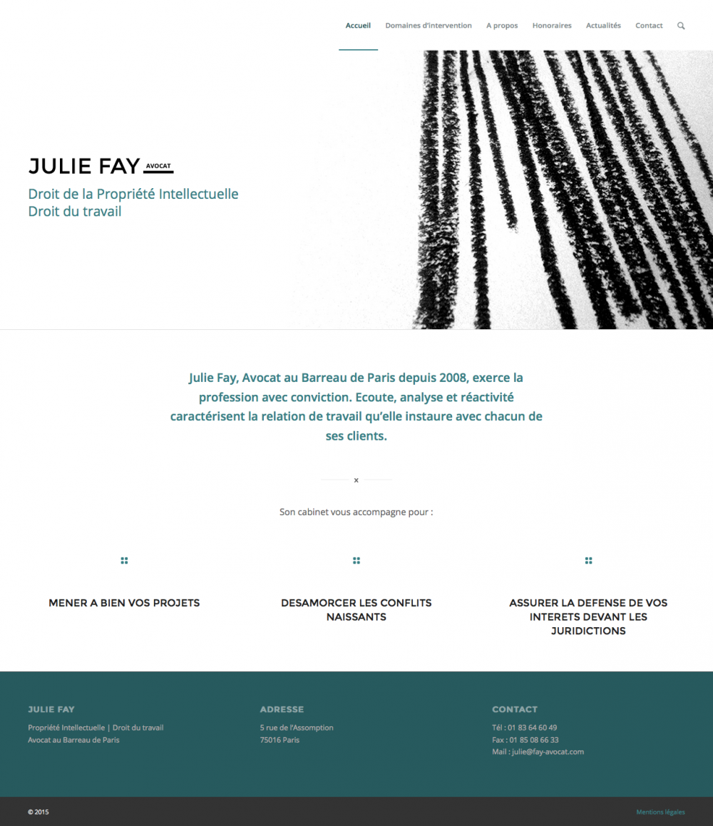 Julie Fay - page d'accueil