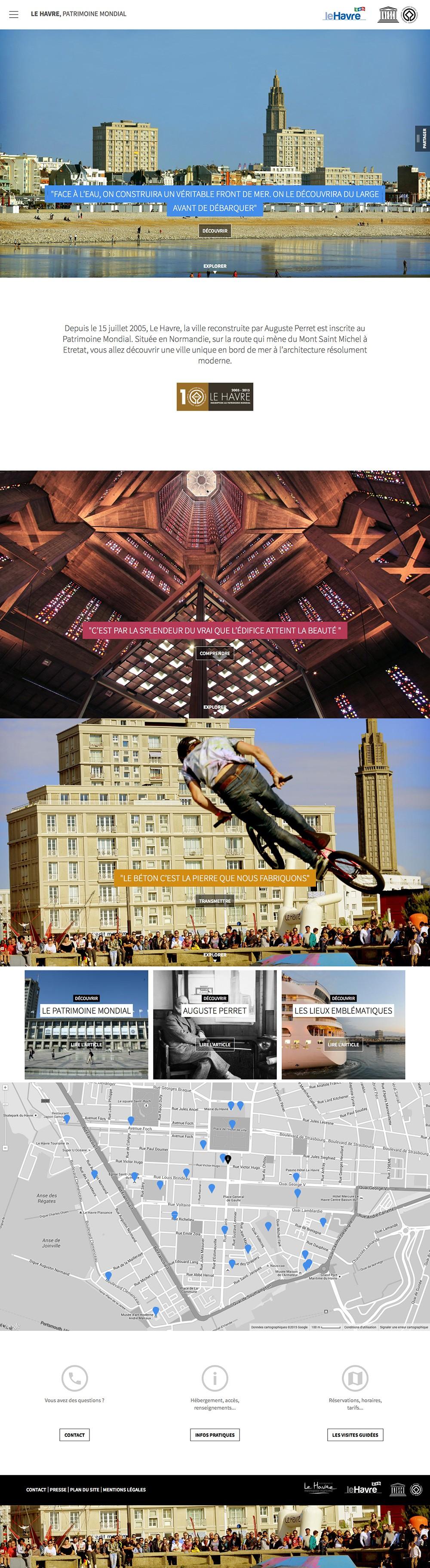 Le Havre, Patrimoine mondial - page d'accueil
